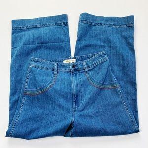 NEW Madewell Rainbow Emmett Wide Leg Crop Jeans